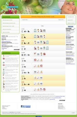 calendarul lunar de tratament comun)